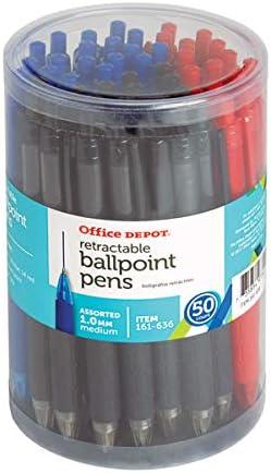 5 Star Medium Ballpen Black Pk Of 50 0.7mm