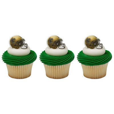 Decopac NFL New Orleans Saints Cupcake Rings