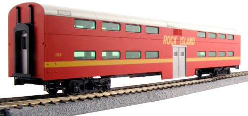Kato USA Model Train Products Pullman Rock Island #155 Bi-Level 4-Window Coach