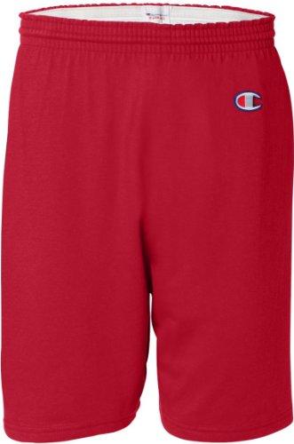 Champion 6 OZ. Cotton Gym Short (8187)- Scarlet,3XL