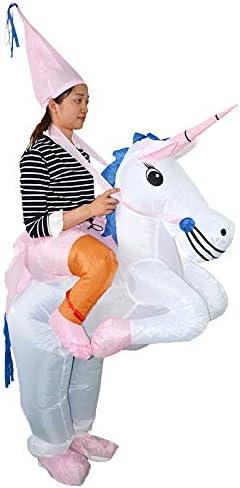 thematys Traje Inflable Unicornio - Divertido Disfraz de Aire para ...