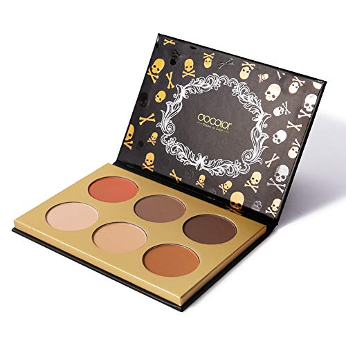 Docolor Cosmetics Contour Palette,Goth Series 6 Colors Makeup Palette Cosmetics Contouring and Highlighting Makeup Kit - Vegan, Cruelty Free & Hypoallergenic