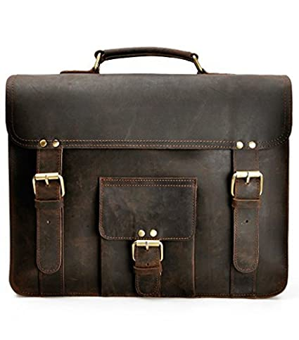 Amazon.com  ZLYC Men Convertible Leather Briefcase Backpack Vintage ... 7ea2a0fd60bfd