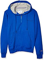 Champion Mens Powerblend 1/4 Zip Hoodie Hooded Sweatshirt