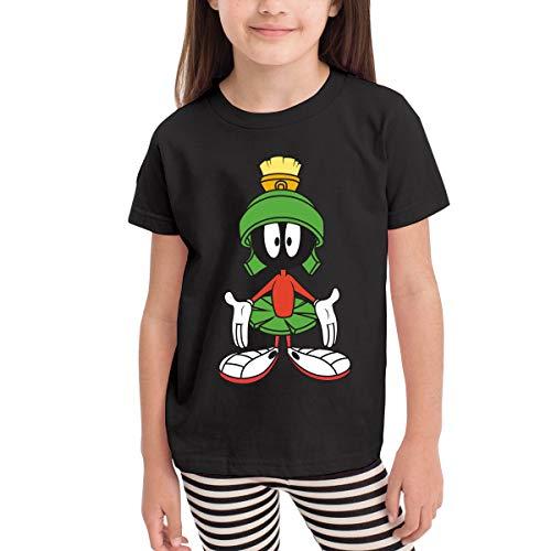 Rusuanjun Marvin The Martian Children's T-Shirt Black 3T Fun and Cute