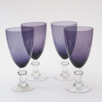 Glass Stemware Plum - Certified International 6553Set/4 Glass Stemware Plum All Purpose Goblets (Set of 4)