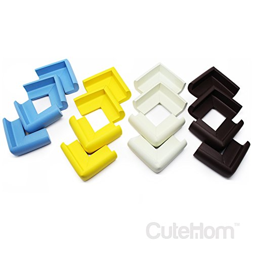 Cutehom Corner Guards for Baby - Set of 16 Foam Edge Corner Protectors (Rubber Floor Edging Trim compare prices)