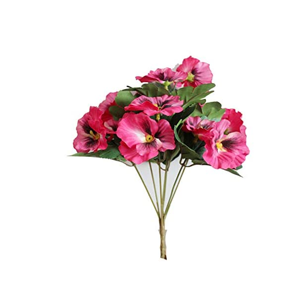 1X Bouquet Artificial Simulation Silk Flower Pansy Artificial Plant Wedding Party Home Hotel Table Decoration Rose Red