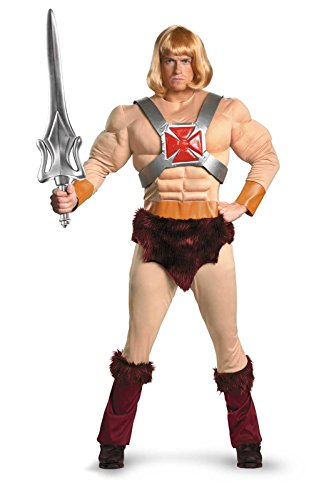 [He-Man Classic Muscle Costume - X-Large - Chest Size 42-46] (He Man Childrens Costume)