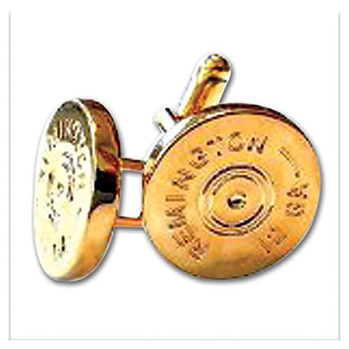Gold Shotgun - The Masonic Exchange Remington 12 Gauge Shotgun Shell Gold Cufflink Set - 5/8