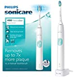 Philips Sonicare ProtectiveClean 4100 Plaque Control, Rechargeable electric toothbrush with pressure sensor, White Mint HX6817/01, 1 Count