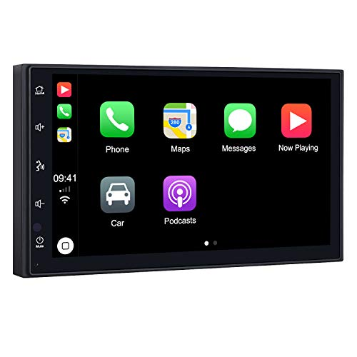 PUMPKIN Double Din Car Stereo with CarPlay and Android Auto, Support Built-in DSP, MirrorLink, Backup Camera, Fastboot, USB, 7 Inch Touch Screen - MMAuto