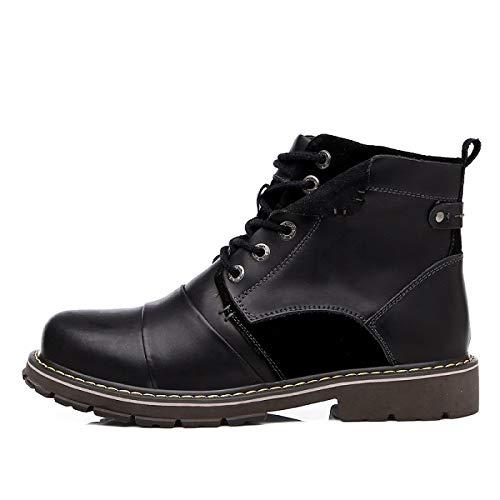 Invierno Fhcgmx Masculinos De Hombres Cuero Martin Moda Casuales Cortas Boots Genuino Del Zapatos Black Para Botas Tobillo 6S50qrxwn6