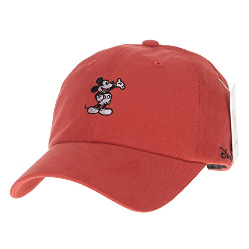 WITHMOONS Disney Mickey Mouse Baseball Cap Winter Short Suede Hat CR1472 (Red)