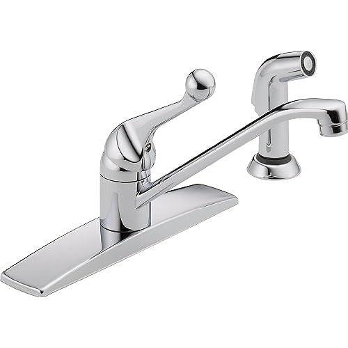 One Hole Chrome Single Hole Bar Faucet Delta: Amazon.com