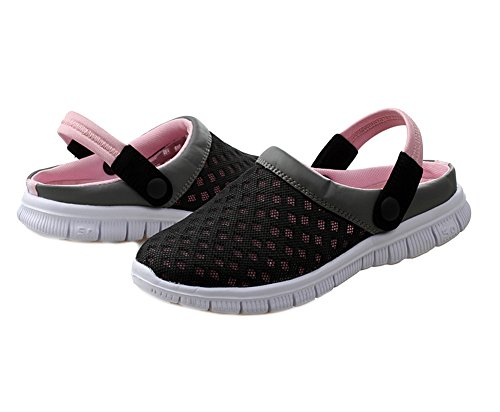 Tortor 1Bacha Unisex Adult Mesh Hollow Clog Slipper Sandal Mule Shoes Pink UGJFeXGYGa
