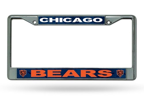 NFL Chicago Bears Chrome Licensed Plate Frame Logo License Plate Nfl Football