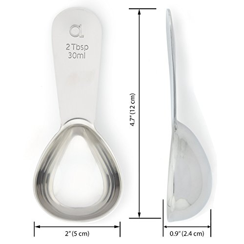 Apace Living Coffee Scoop (Set of 2) - 2 Tablespoon (Tbsp) - The Best Stainless Steel Measuring Spoons for Coffee, Tea, and More by Apace Living (Image #3)