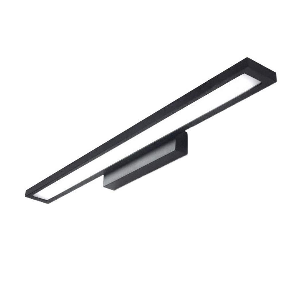 Schwarz  Weiãÿs Licht 60cm 12W 8W LED Badezimmerspiegelleuchte Spiegel Scheinwerfer Wandleuchte wasserdichte Spiegelleuchte Aluminium, schwarz weißes Licht, 60cm   12W