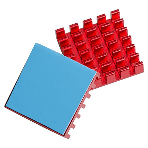 - AKK 10pcs Red Aluminum Heatsink Cooling Fin Cooler Circuit Board with 19x30mm Thermal Tape