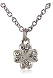 """Judith Jack """"Mini Motives Too"""" Sterling Silver and Marcasite Crystal Reversible Mini Clover Pendant Necklace"""