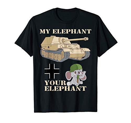 - Elefant WWII Tank Destroyer Funny Elephant Meme T-Shirt Gift