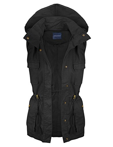 makeitmint Women's Hooded Military Utility Jacket Vest for sale  Delivered anywhere in USA