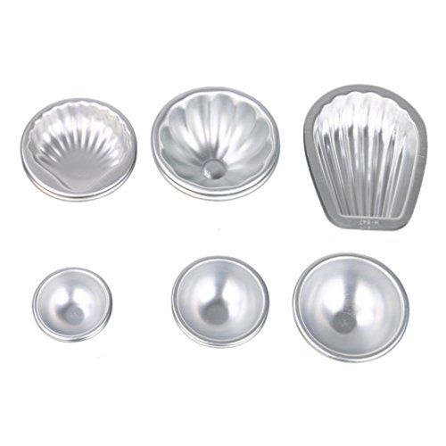 Price comparison product image Hunzed Cake Mould, { 12pc Cake Bath Bomb Mold } { Handmade Soap Bakeware Mould } Kitchen Baking Tool Aluminum Sphere Kit