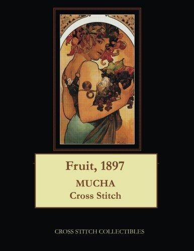Fruit, 1897: Alphonse Mucha cross stitch pattern