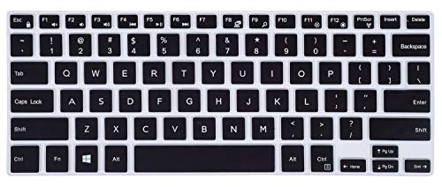 ikammo Clear Keyboard Cover Skin Compatible Dell Inspiron 15 5000 7000 15.6(i5578 5579 7573 7569 7579),13.3 Dell Inspiron 13 5000 7000(i5368 i5378 7368 i7368 7373 i7373 7378 i7378),Black