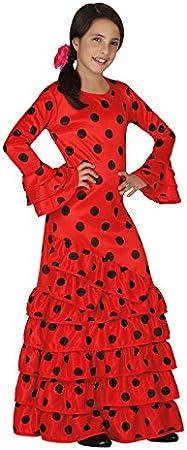 Atosa - Disfraz de flamenca para niña, color rojo, talla M, 5-6 ...