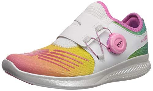 New Balance Girls' Reveal V1 Running Shoe, White/Rainbow, 13.5 W US Little Kid (Best Shoes For Back To School)