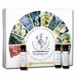 Bach Flower Remedy Set (38x10ml) + 2 FIVE Flower Remedies by Healingherbs