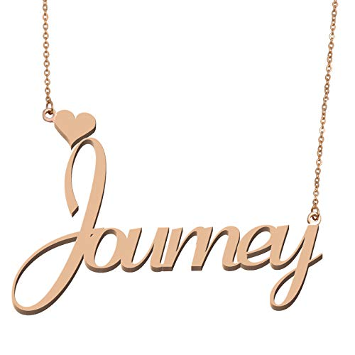 Earrings Journey Necklace - Aoloshow Customized Custom Name Necklace Personalized - Custom Made Journey Necklace Initial Monogrammed Gift for Womens Girls