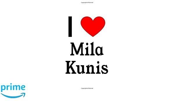 I Love Mila Kunis: Mila Kunis Designer Notebook: Perfect