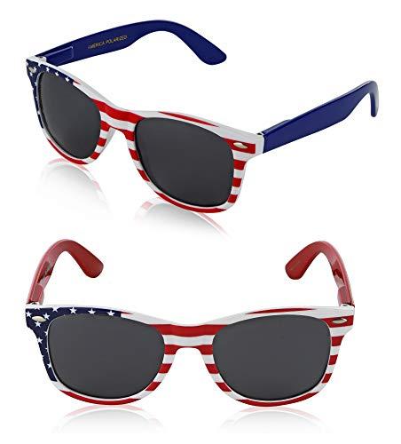 American Flag Glasses USA Glasses Womens Girls Teens Fun Party America Bulk ()
