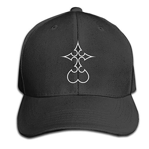 Kingd - om He - Arts - Nobody Hat Men's Vintage Washed Personalized Hats Black (Kingdom Hearts Hat)