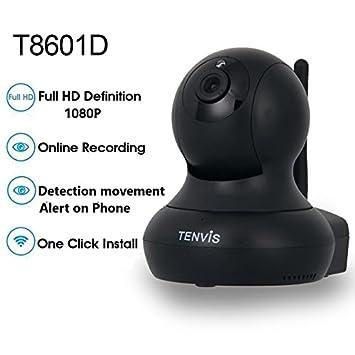 Tenvis T8601D Cámara de vigilancia IP inalámbrica Wifi Full HD interior - 1080P 1920x1080 - Alerta