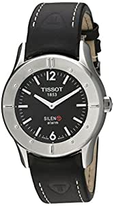 Tissot Men's T40142651 T-Touch Silen-T Black Leather Strap Watch