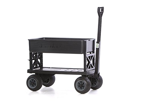 Mighty Tub (Mighty Max Cart Plus One All-Purpose Utility and Garden Cart with Black Tub and with All-Terrain Weatherproof Wheels)