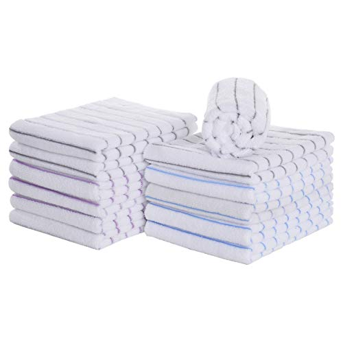 LUCKISS Windowpane Microfiber Kitchen Towels 12 Pack Super Soft Ultra Absorbent Quick Drying Dish Tea Towels Lint Streak Free Kitchen Bar Mop Cleaning Dust Cloths 15 x 25 Inch 12 Pack