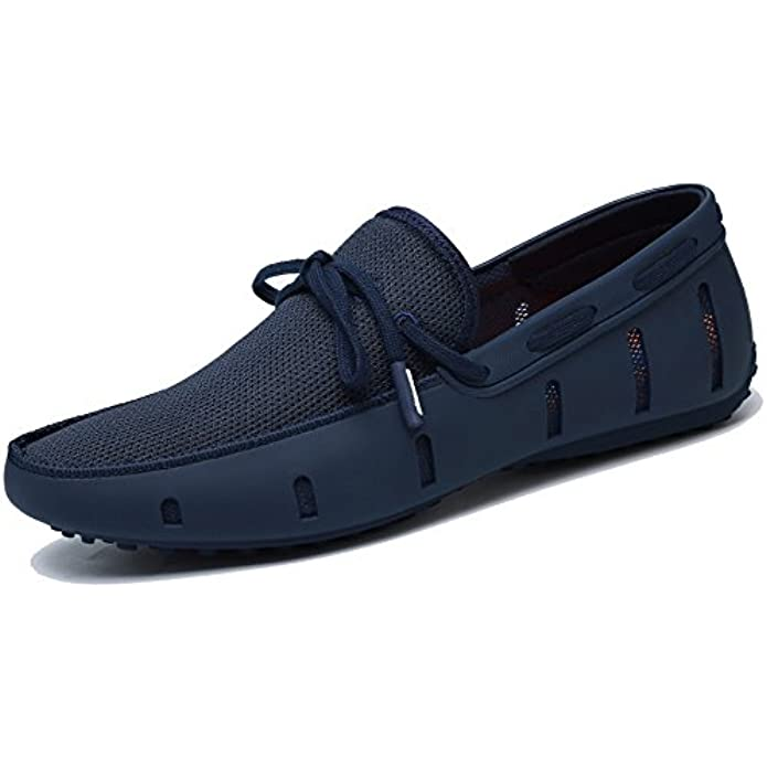 Adadila Men's Classic Braided Lace Loafer Breathable Slip On Ultra Light Shoes