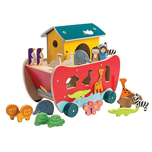 (Tender Leaf Toys Noah's Shape Sorter Ark Wooden Toy)