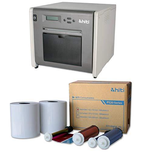 Printer Dye Sub - HiTi P525L Compact Dye Sub Photo Printer - With HiTi 4x6 Media for Photo Printer P520 & P520L