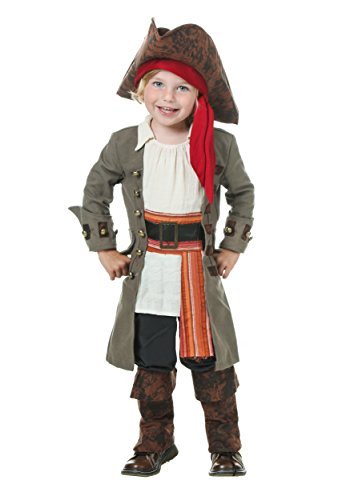 [Fun Costumes boys Toddler Pirate Captain 4T] (Toddler Boys Pirate Costumes)