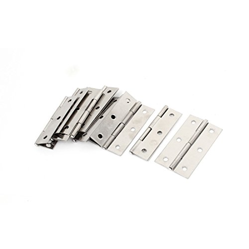 "Furniture Hardware Rotating Door Butt Hinges 2.6"" Silver"