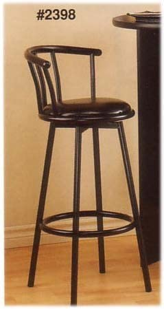 Cross Country Furniture Two Satin Black Swivel BAR STOOLS