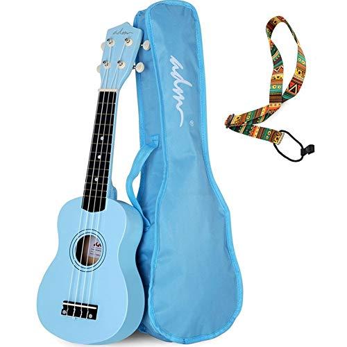 ADM Beginner Ukulele 21 Inch Soprano Kids Starter Pack Student Bundle Child Kit with Gig bag and Strap, Blue ()