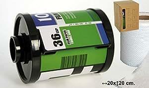 DonRegaloWeb - Portarrollos de papel higienico original en forma de carrete fotográfico