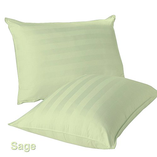 2- PCs- Euro -Shams 100% Egyptian Cotton 400 Thread Count Stripe Pattern All Sizes & Colors 26